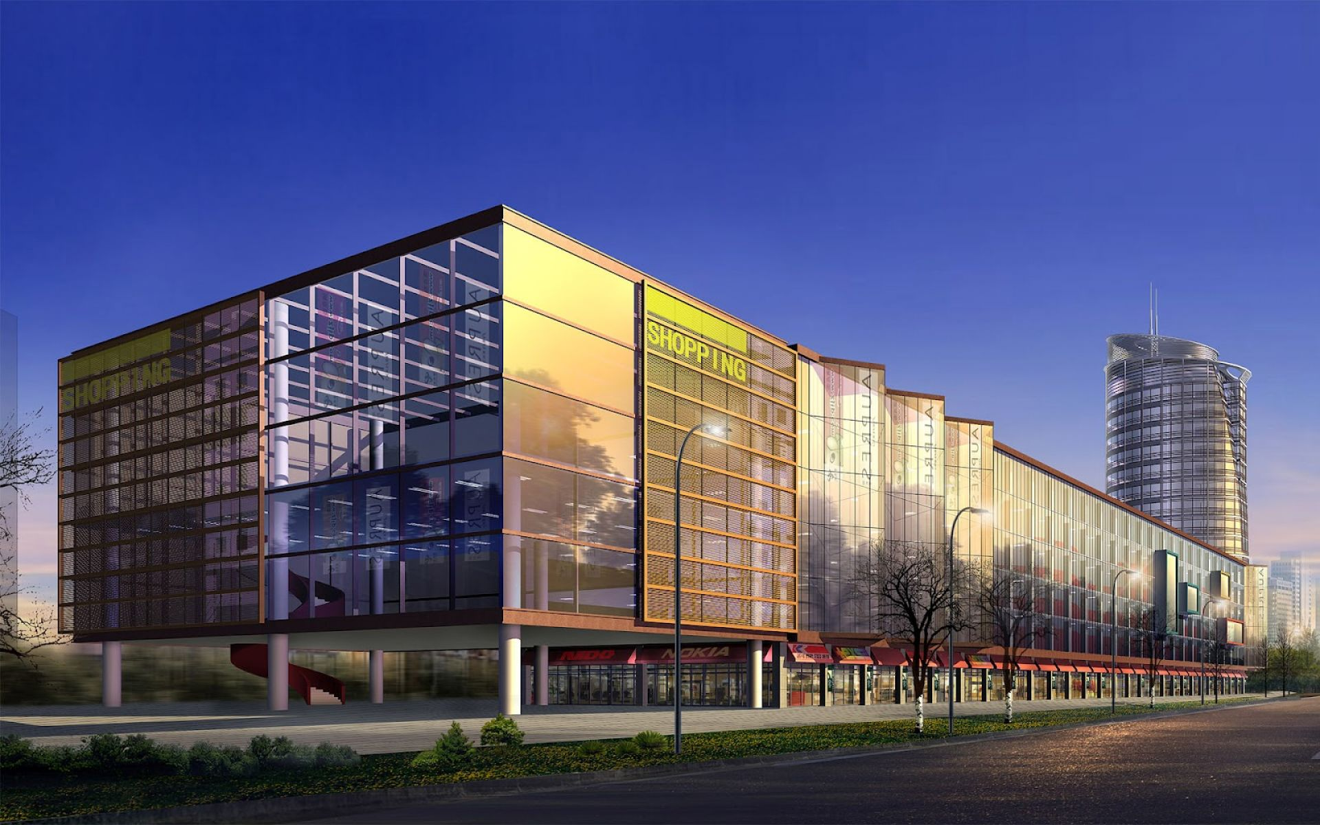 Big shopping center architecture